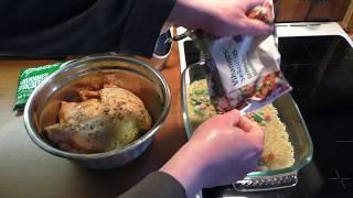 Helppo ruoka: broileri kasvis-riisipedillä