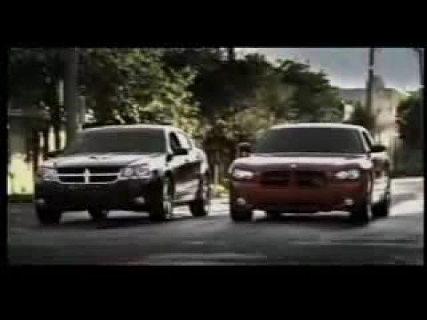 Dodge Challenger Vs Charger >> Dodge Charger RT vs. Dodge Avenger 2009 - YouTube