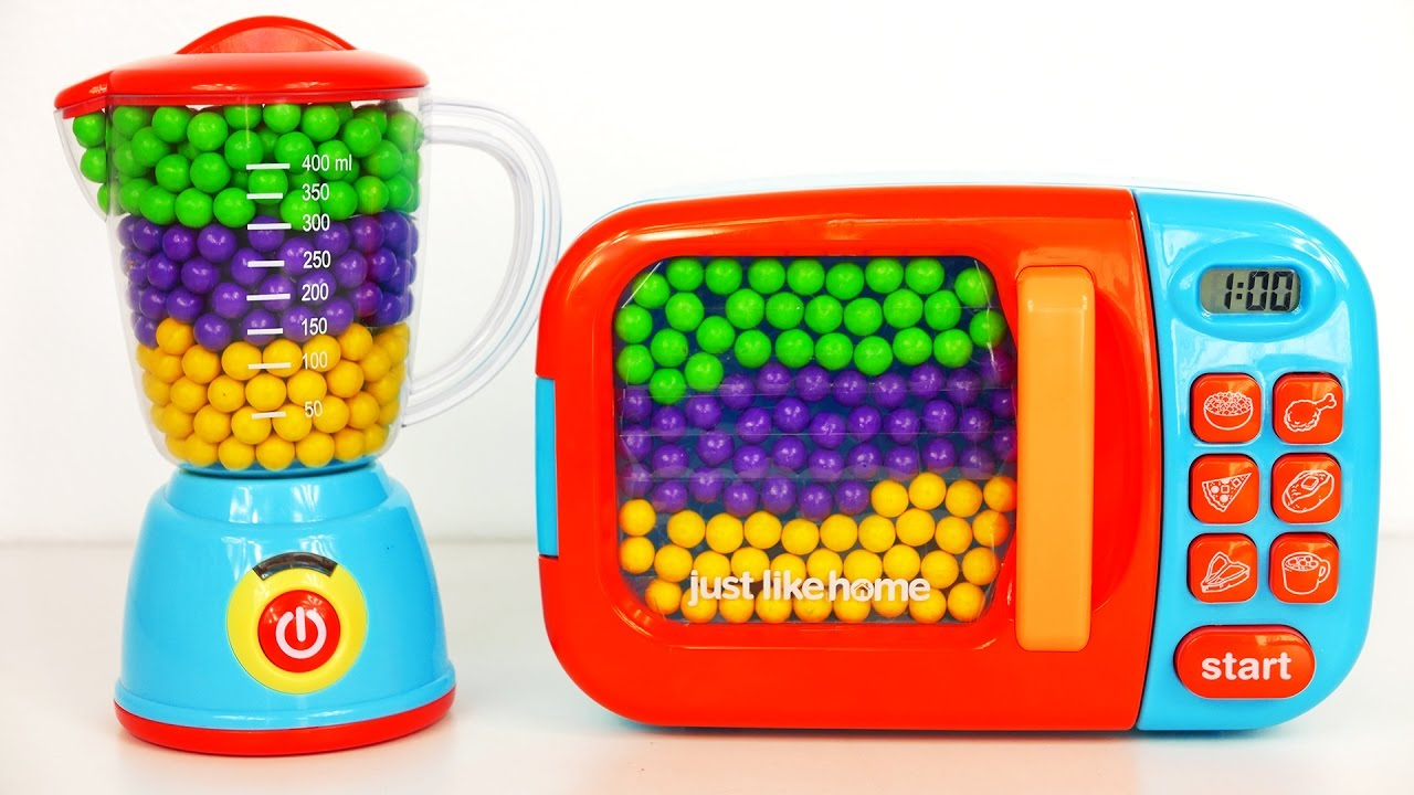 Blender And Microwave Kitchen Appliance Playset Filled