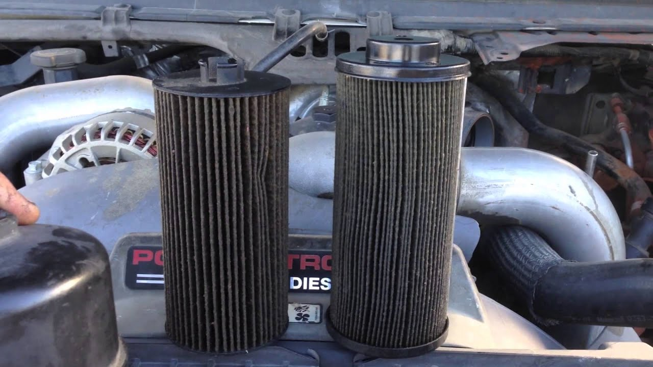 Ford Powerstroke oil filters and caps Low oil pressure at idle