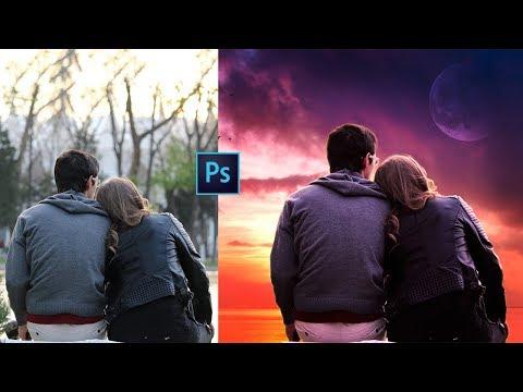 Photoshop Tutorial | Photo Manipulation Change Background & Color Correction