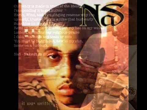 Nas - Take It In Blood. (With Lyrics)