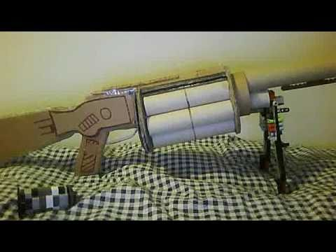 how to make a cardboard grenade launcher