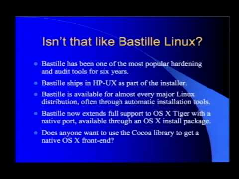 defcon-14:-discovering-mac-os-x-weaknesses-and-fixing-them-with-the-new-bastille-os-x-port