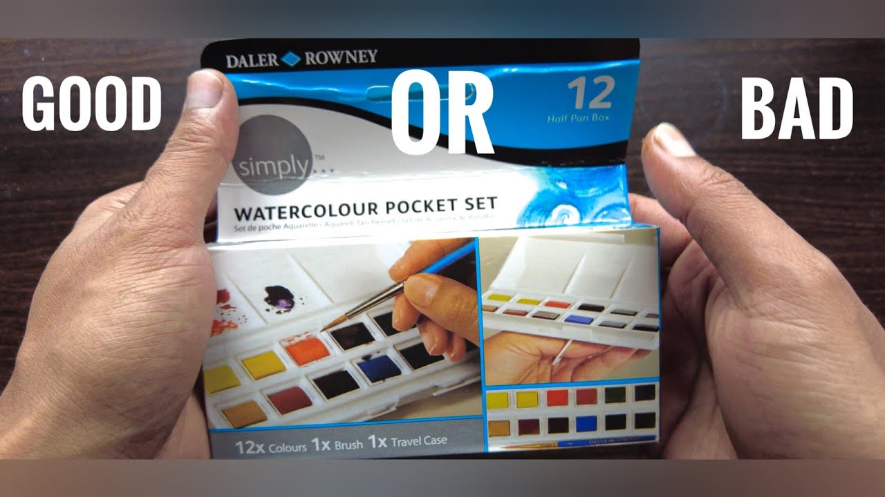 Daler Rowney Simply Watercolour Pocket Set REVIEW