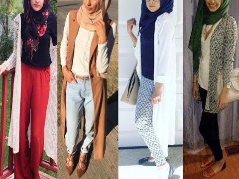 1d8083b85 Casual Hijab Fashion - Cardigan Outfits Style ازياء كاجوال للمحجبات 3 -  YouTube