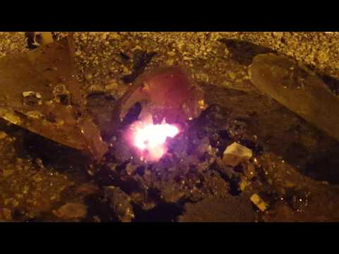 Thermite over Glass of Water