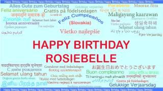 Rosiebelle   Languages Idiomas - Happy Birthday