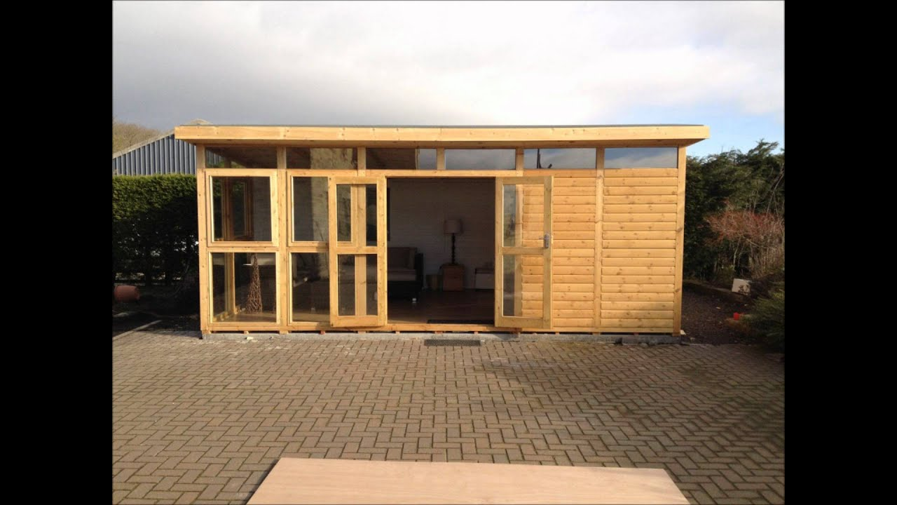 Ecohome fully insulated logcabin garden room studio space for House plans with garden room