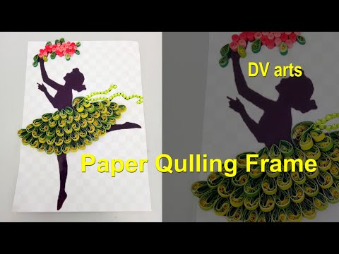 How to make quilling wall frame/wall decoration frame with paper quilling