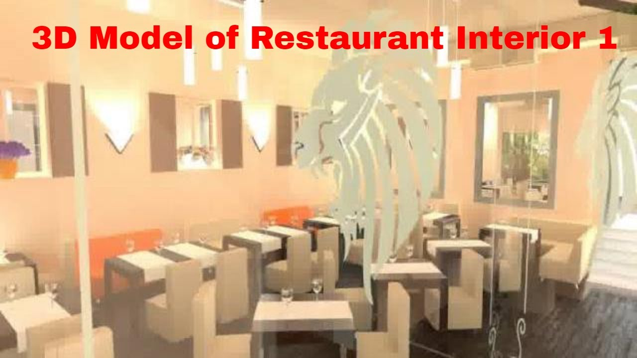 D model of restaurant interior youtube