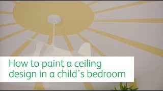 Create a sunny sky on your child's ceiling