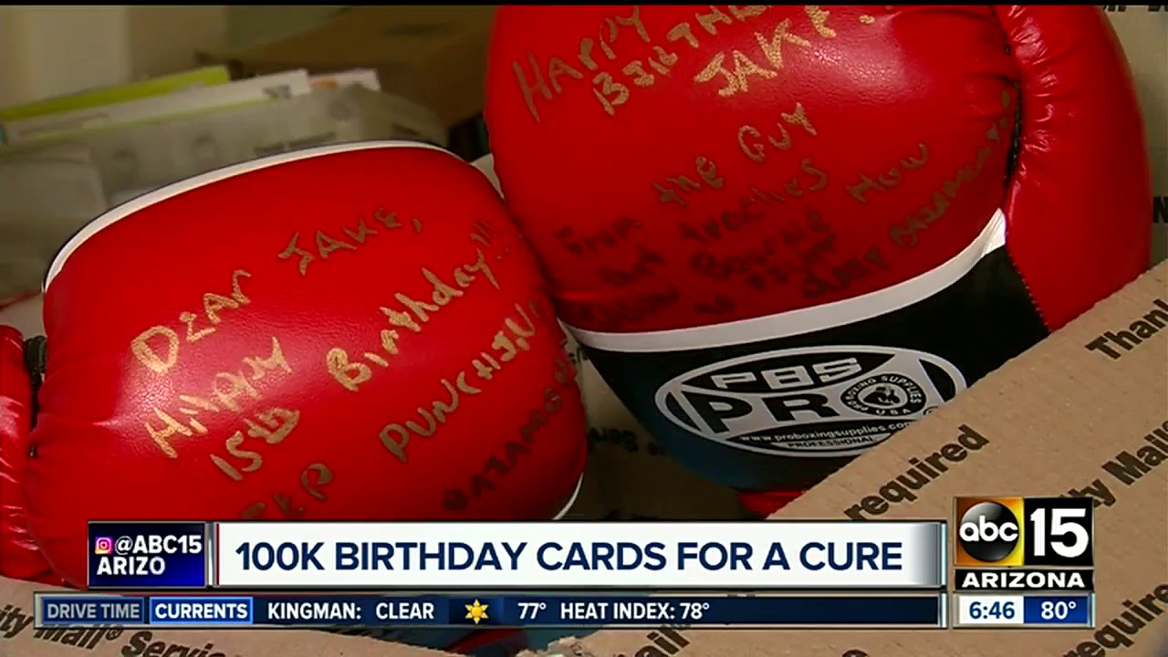 Parents Of Arizona Teen With Rare Disease Hoping A Cure Is Delivered Birthday Cards