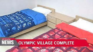 Pyeongchang Olympic Village construction completed on Friday and prepares to welcome athletes
