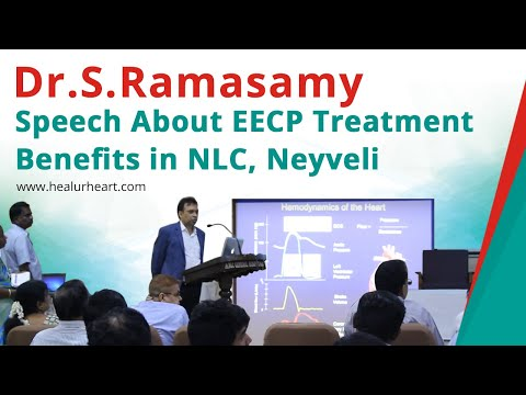 dr ramasamy speech about eecp treatment benefits in nlc neyveli