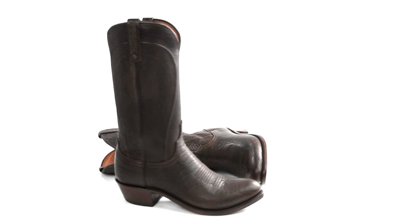 e4b2a640e93 1883 by Lucchese Bison Leather Western Boots - R-Toe (For Men)