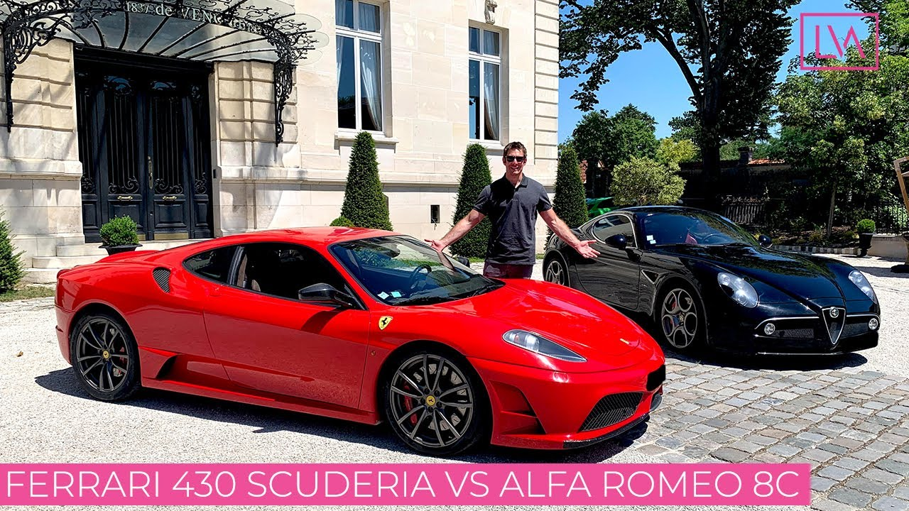 Ferrari 430 Scuderia VS Alfa Romeo 8C - Les meilleurs V8 de l'histoire ?!