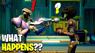 What Happens if Boss Doctor Slone Meets the UFO Aliens Bosses in Fortnite!