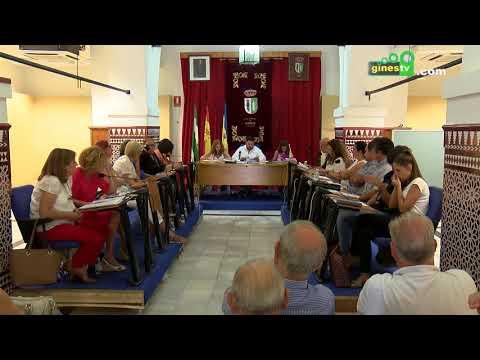 Pleno Extraordinario del Ayuntamiento de Gines. 30 agosto 2017