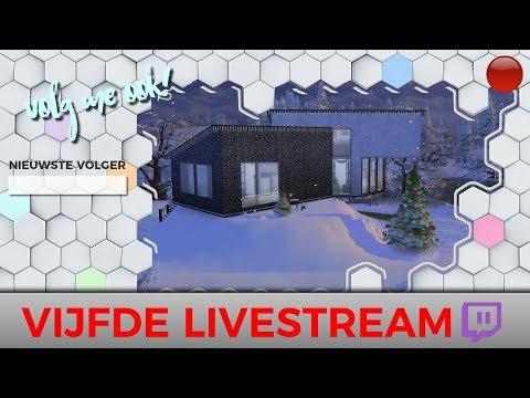 ◢🔴 VIJFDE LIVESTREAM! Winter Cottage Bouwen 🔴◤    Sims 4 Livestream
