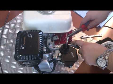 Additional throttle leaver for GX160, 2 m long  YouTube