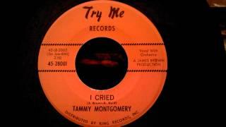 Tammy Montgomery - I Cried - Early Tammi Terrell Ballad