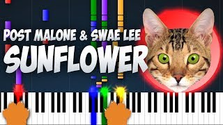 Post Malone & Swae Lee - Sunflower Cat Meow Covers Piano and Cat Cover Music