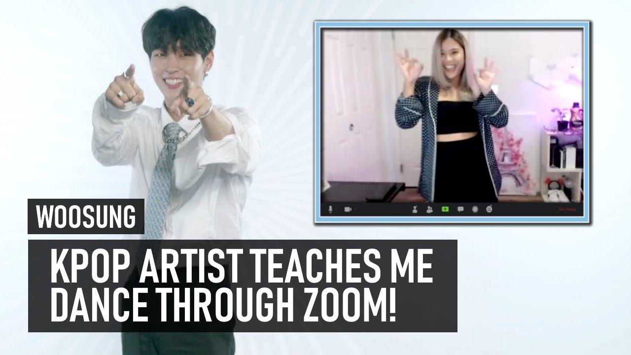 Kpop artist teaches me dance through Zoom | WOOSUNG Interview