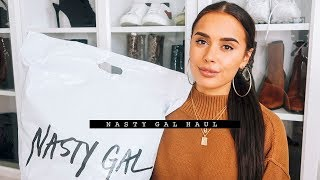 NASTY GAL UNBOXING HAUL & TRY ON | AD | Hello October