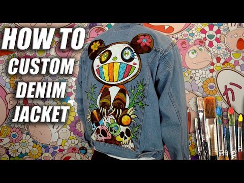 How To Custom Paint a Denim Jacket! Murakami x Kanye West Tutorial | DIY