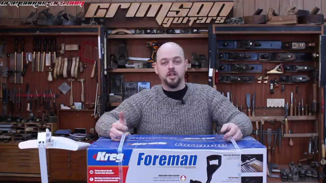 unboxing, using and reviewing the Kreg Foreman Pocket-Hole machine