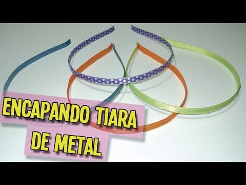 Como encapar tiara de metal   DIY - PAP