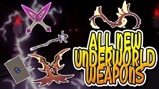 ALL NEW UNDERWORLD WEAPONS IN DUNGEON QUEST!!! (Roblox)