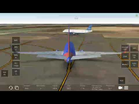 Infinite Flight global. Southwest airlines flight 390. Take off from Fort Lauderdale airport.