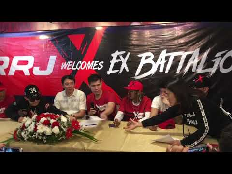 Ex-Battalion and RRJ contract signing   How do the members feel about being endorsers?