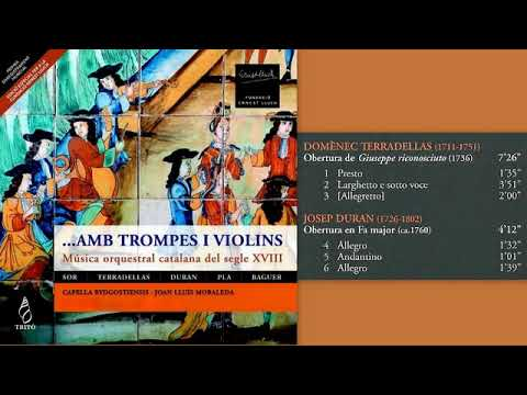 Catalan Orchestral Music of the 18th Century by Domenec Terradellas and Josep Duran
