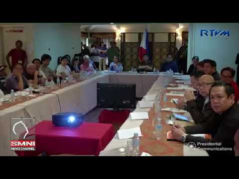 Pangulong Duterte presides over a (NDRRMC) briefing of MCC Hotel in Tubod, Lanao del Norte
