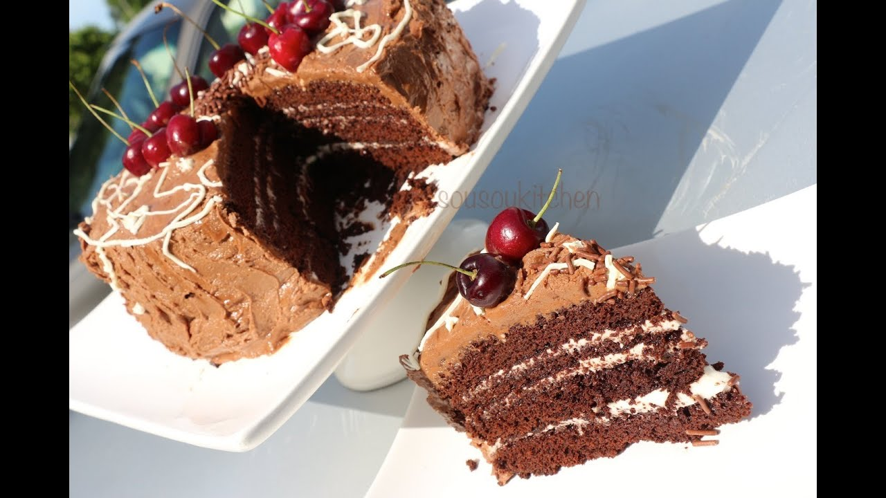 Recette De Gateau D 39 Anniversaire Au Chocolat Chocolate Birthday Cake Sousoukitchen Youtube