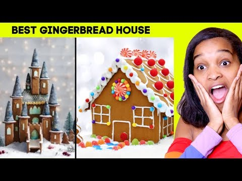 GINGERBREAD HOUSE DECORATING CHALLENGE! - Toy Game Challenge - Onyx Adventures |