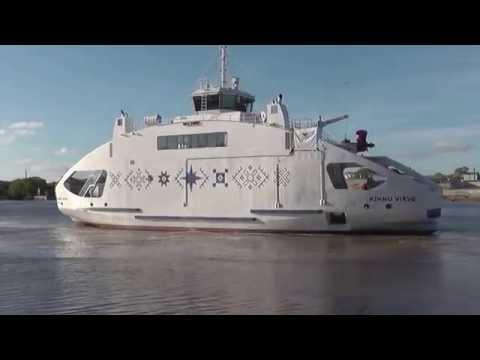 Ferry to island Kihnu.Estonia port Parnu.