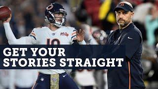 Mitch Trubisky & Matt Nagy need to get their stories straight   SportsTalk Live   NBC Sports Chicago