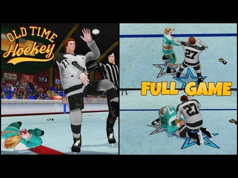 Old Time Hockey Full Game Cobalt Silvers vs Quebec Voyous Classic Camera Arcade PS4