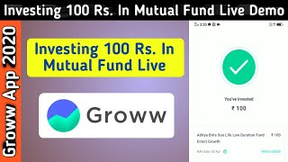 Investing 100 Rs In Mutual Fund Using Groww App | One Time or Monthly SIP In Mutual Fund
