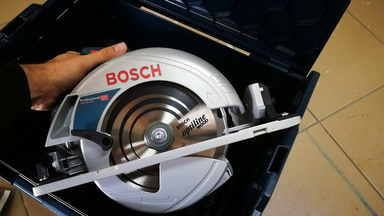 Unpacking Unboxing Hand Held Circular Saw Bosch Gks 65 Gce 0601668901 0601668971 Youtube
