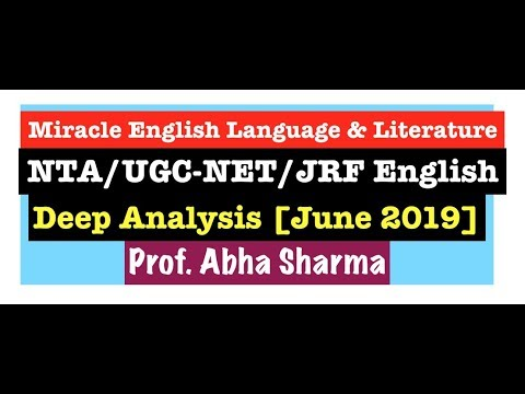NTA UGC NET:JRF June 2019 English Exam Analysis, Literature & Linguistics