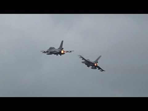 Sola Airshow 2017 - F-16 two-ship display