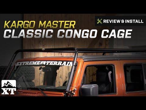 Jeep Wrangler Kargo Master Classic Congo Cage (2007-2017 JK) Review & Install