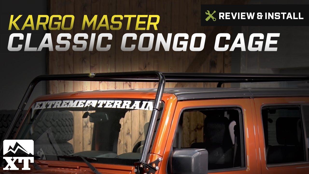 Jeep Wrangler Kargo Master Classic Congo Cage (2007 2017 JK) Review U0026  Install
