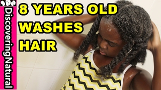 Teaching Your Kids HOW TO WASH NATURAL HAIR | Inahsi Naturals