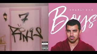 7 Rings / Boys - Ariana Grande, Charli XCX